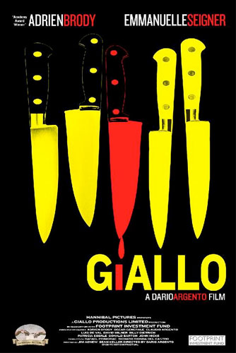 Poster for Dario Argento's latest film, <em>Giallo</em>