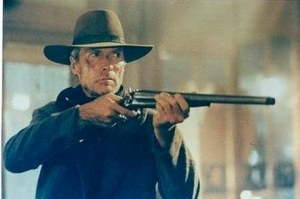 Eastwood in his film, Unforgiven.